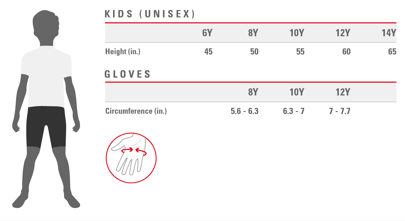 Castelli kid's sizing