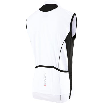 The back of the Garneau Mistral Sleeveless Jersey in White.