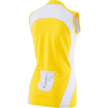 The Back of Louis Garneau's W's Breeze Sleeveless Jersey in Yellow.