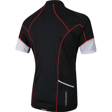 The back of the Garneau Lite Bam Jersey in Black/White.
