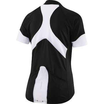 The back of the Louis Garneau Women's Skin-X Jersey in Black/White.