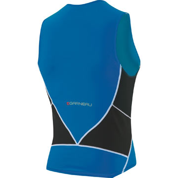 The back of the Garneau Comp Sleeveless in Royal.