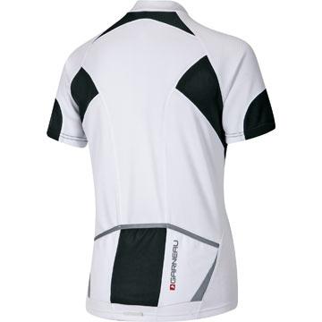 The Garneau Women's Eva Jersey in White/Black.