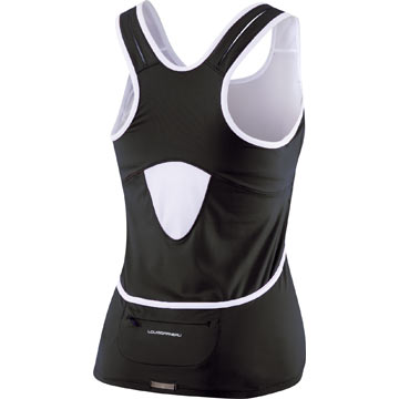 The back of the Louis Garneau Women's Fast Skin Top in Black/White.