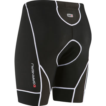 The back of the Garneau Comp Shorts in Black.
