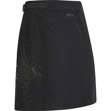 The back of the Louis Garneau Women's Santa Cruz Skirt.