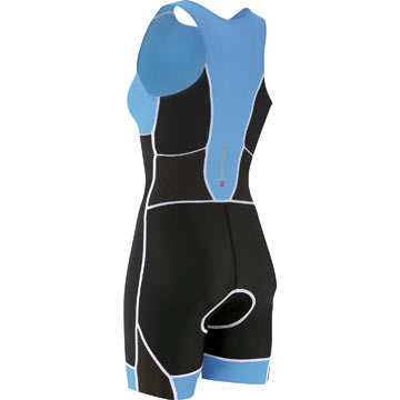 The back of the Garneau Women's Comp Suit in Flash Blue.