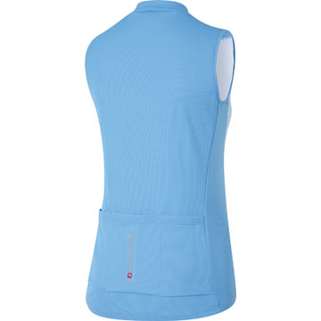 The Back of Louis Garneau's W's Tanka Sleeveless Jersey in Flash Blue.