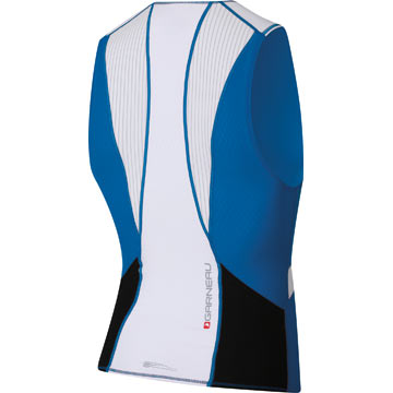 The back of the Garneau Pro Sleeveless in Royal.