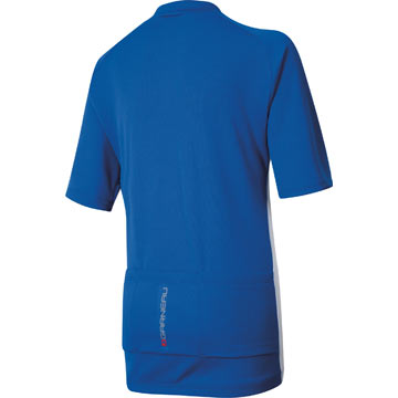 The back of the Louis Garneau Junior Jersey in Royal.