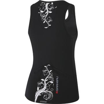 The back of the Louis Garneau Women's Lite Skin Top in Black.