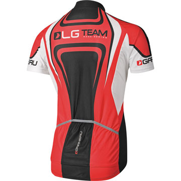 The back of the Garneau Equipe Jersey.