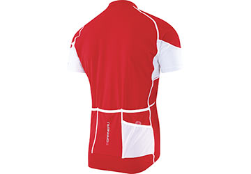 The back of the Louis Garneau Lemmon Jersey in Red.