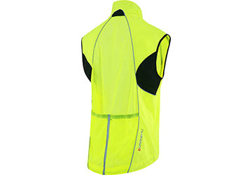 The back of Garneau's Vent 2 Vest in Bright Yellow.