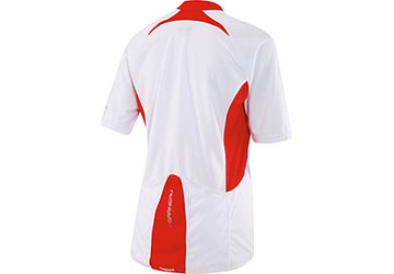 The back of the Louis Garneau Women's Newtown Jersey in White.