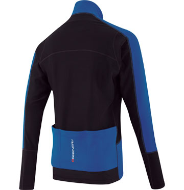 The back of the Louis Garneau Enerblock Jacket in Royal.