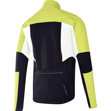 The back of the Louis Garneau Gemini 2 Jacket in Bright Yellow.