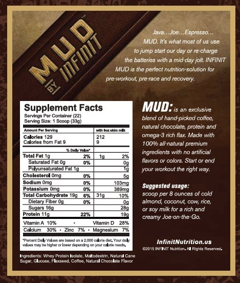 Infinit MUD nutritional information