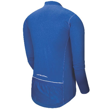 The back of the Pearl Izumi Quest Long Sleeve Jersey in True Blue.