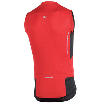 The Elite Sleeveless Jersey in True Red/Black.
