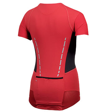 The Women's P.R.O. Leader Jersey in True Red/Black.