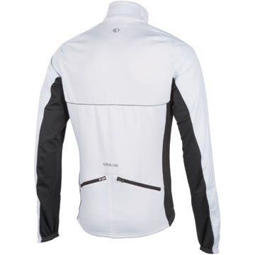 The Pearl Izumi Elite Thermal Barrier Jacket in White/Black.