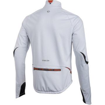 The Pearl Izumi P.R.O. Softshell Jacket in White/Black.