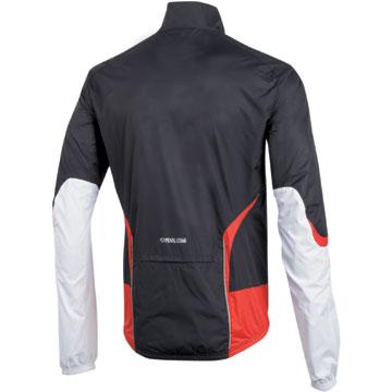 The Pearl Izumi Elite Barrier Jacket in Black/White.