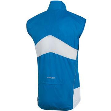 The Pearl Izumi Elite Barrier Vest in True Blue/White.