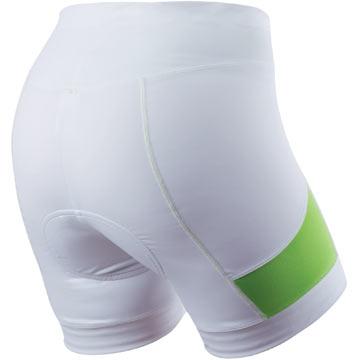 The Pearl Izumi White Sugar Shorts.