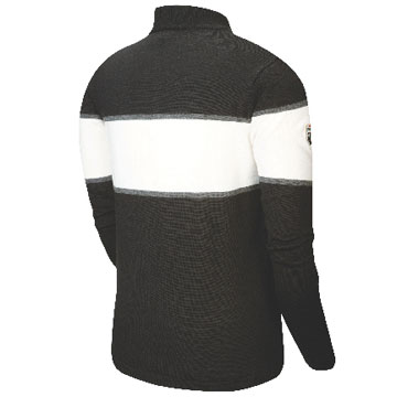 The back of the Pearl Izumi P.R.O. Woolie 1/4 Zip Jersey in Black.