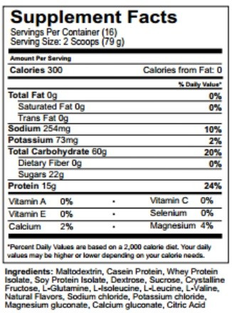 :REPAIR nutritional information