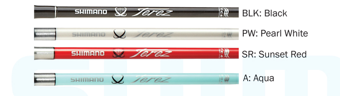 Shimano Terez rods now come in four colors