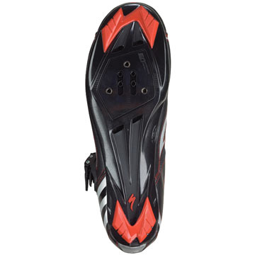 The sole of the Specialized Elite Road Shoes.