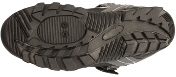 The sole of Serfas' Trax shoe.
