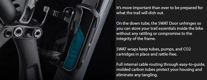 Specialized SWAT downtube storage