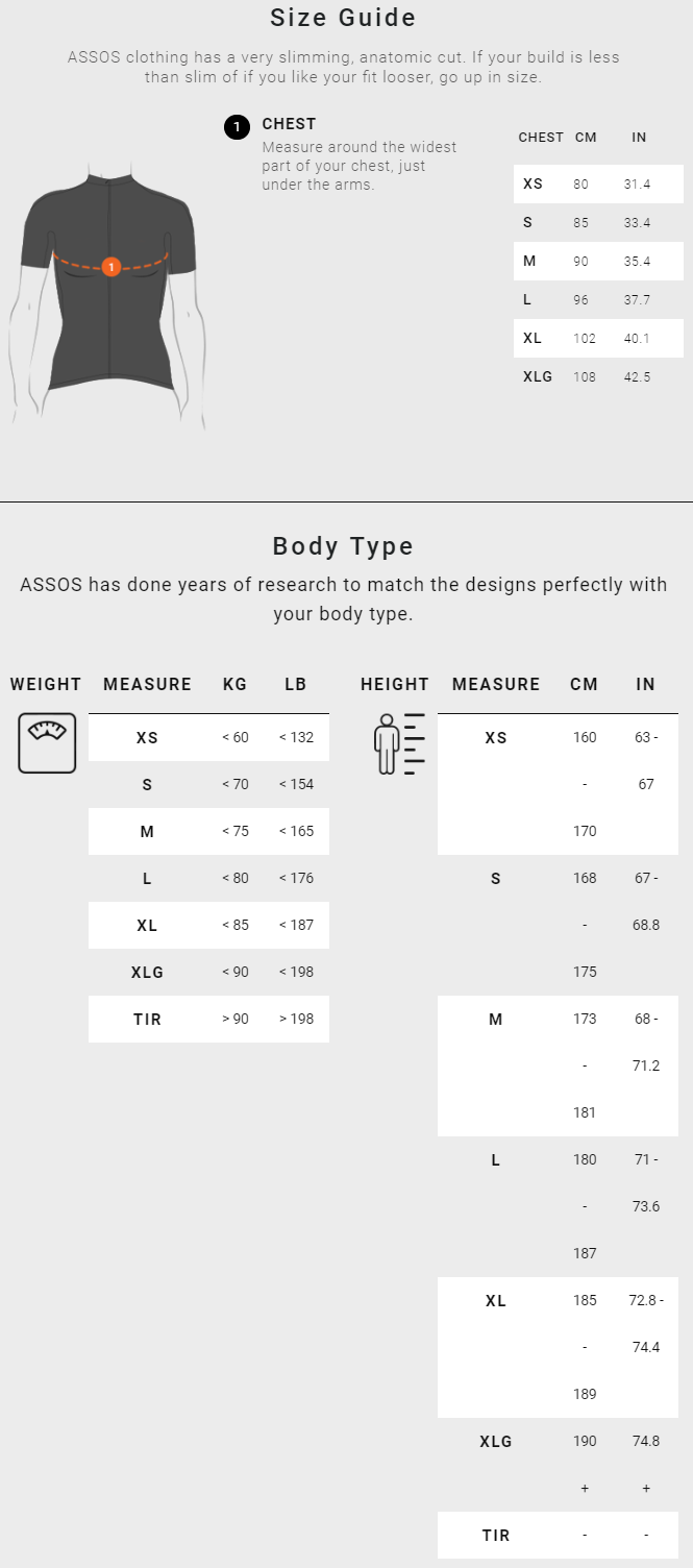 Assos Women's Tops sizing chart