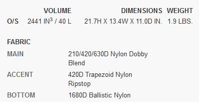 Osprey Trailkit specs