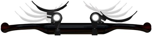 Above-Bar armrest positions.
