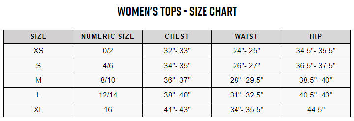 Trek women's sizing chart