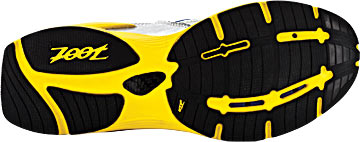 The sole of Zoot's Ultra Race 3.0 Running Shoes.