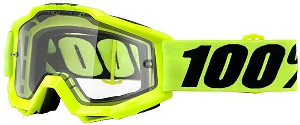 100% Accuri Enduro MTB Goggles Color: Fluo Yellow