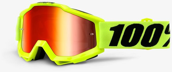100% Accuri Goggles Color | Lens: Fluo Yellow | Mirror Red|Clear