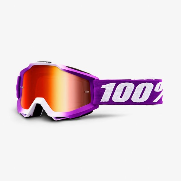 100% Accuri Goggles Color | Lens: Framboise | Mirror Red|Clear