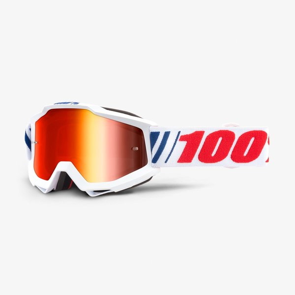 100% Accuri Goggles Color | Lens: AF066 | Mirror Red|Clear