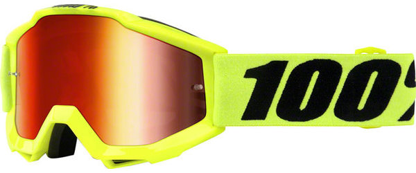 100% Accuri Youth Goggles Color | Lens: Fluo Yellow | Mirror Red