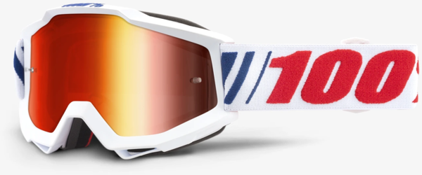 100% Accuri Youth Goggles Color | Lens: AF066 | Mirror Red