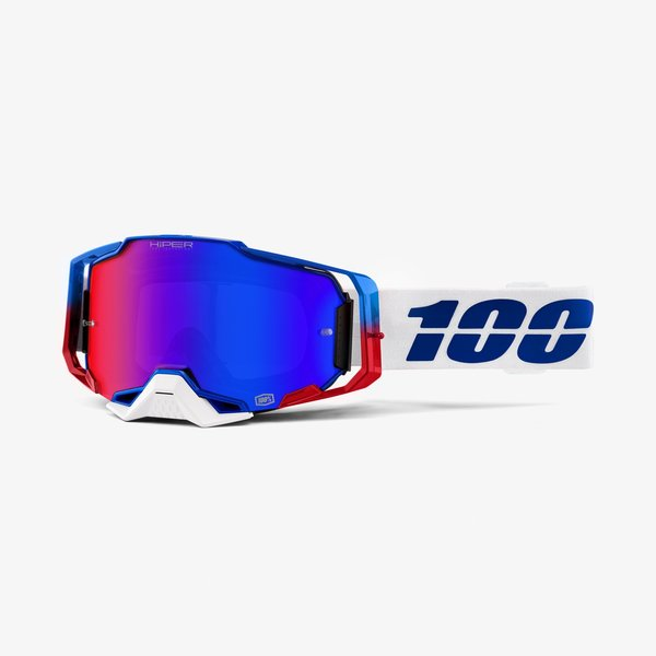 100% Armega Goggles Color | Lens: Genesis | HiPER Blue/Red Mirror