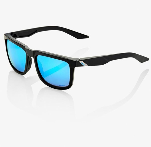 100% Blake Sunglasses Color | Lens: Matte Black | HiPER Blue Multilayer Mirror