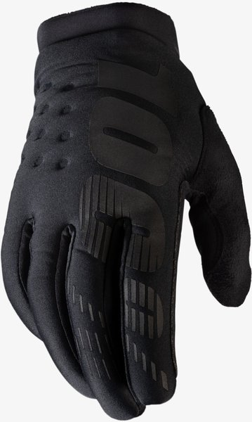 100% Brisker Gloves Color: Black/Grey